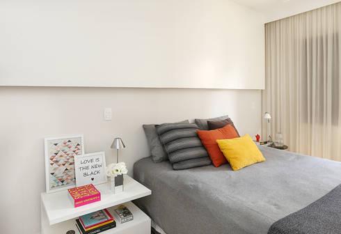 Suite Master: Quartos  por Casa 2 Arquitetos