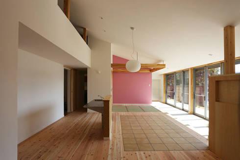 室内1: LiPS DESIGN/(有)フレックスが手掛けた壁です。