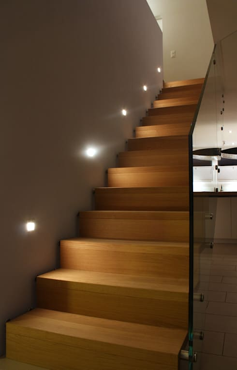 Projekty,  Korytarz, hol i schody zaprojektowane przez wohlgemuth & pafumi | architekten ag