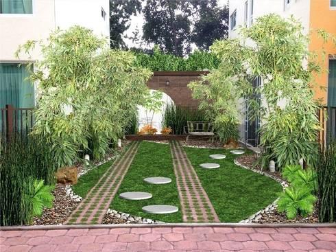 Jardines peque os trucos para ampliar espacios el for Homify jardines pequenos