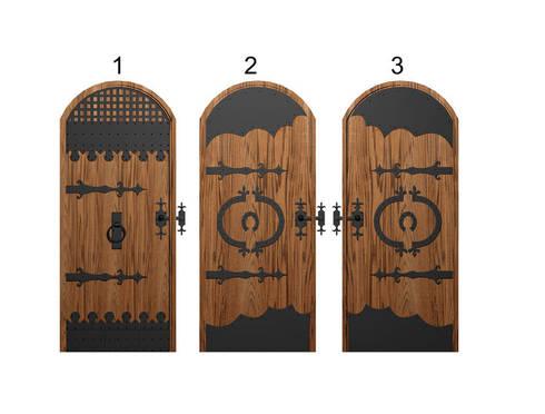 дизайн входной двери в винный погреб