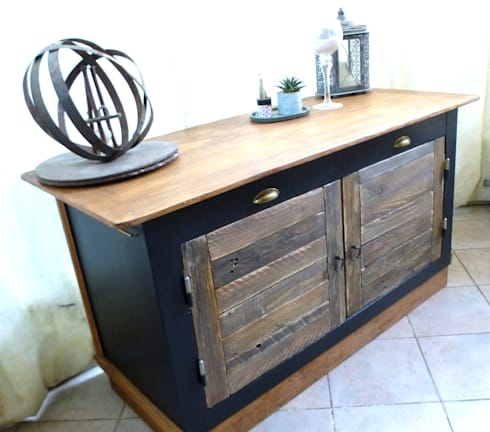 beau buffet style bistrot chic par dcosmose homify. Black Bedroom Furniture Sets. Home Design Ideas
