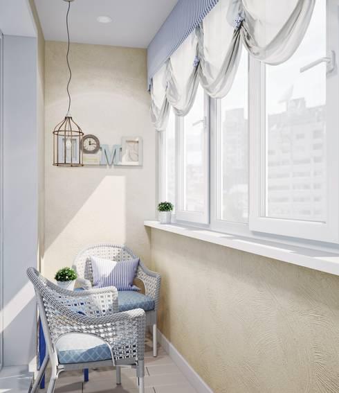 Балкон в стиле Прованс: Tерраса в . Автор – Анна Теклюк