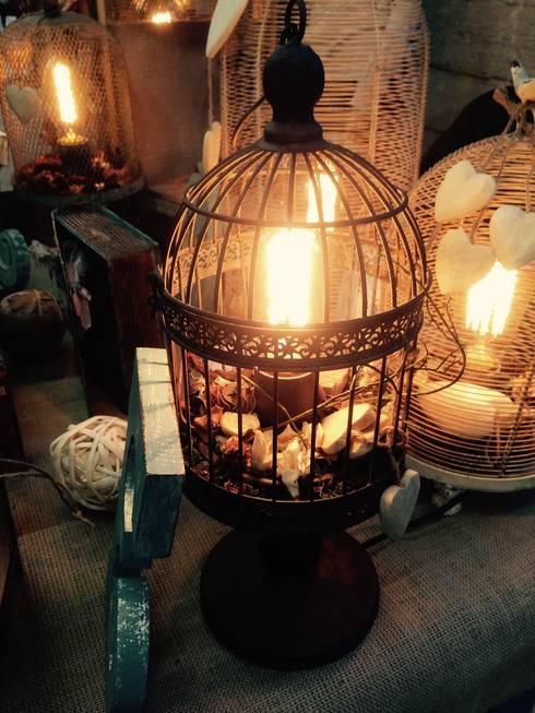 """Настольная лампа """"Мое сердце всегда с тобой"""" : Спальная комната  в . Автор – Eco Shining Home"""