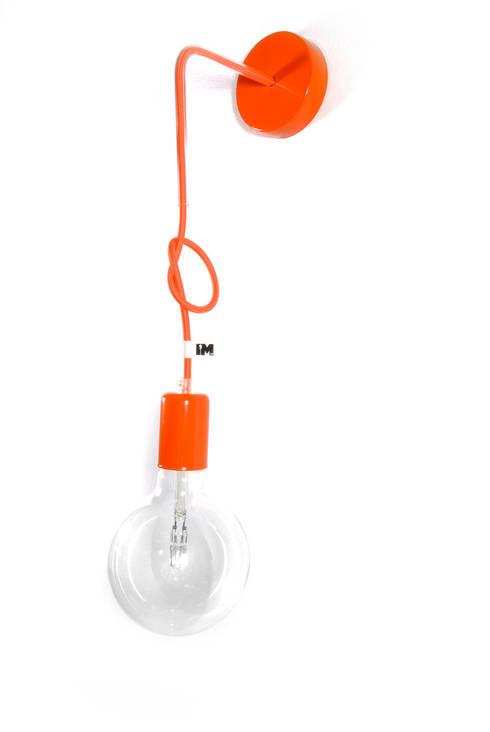 Nowoczesny kinkiet w kolorze pomarańczowym imindesign: styl , w kategorii Jadalnia zaprojektowany przez IMIN