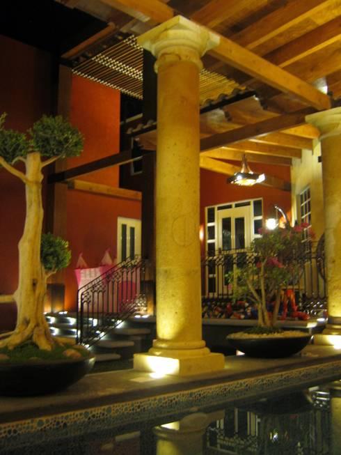 Remodelación, ampliación Casa AL: Terrazas de estilo  por ipalma arquitectos