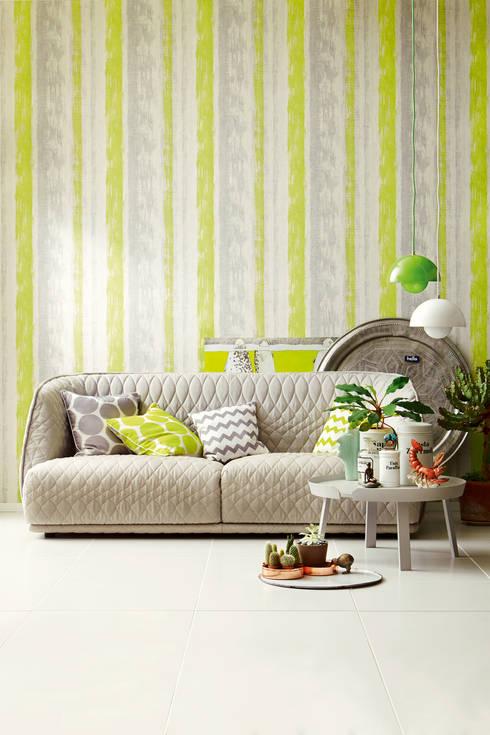 Streifen verändern den Raum:  Wände & Boden von Tapeto® - Steffen Hannes
