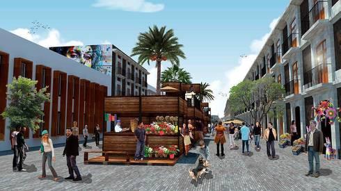Calle de Argentina y Justo Sierra:  de estilo  por City Ink Design