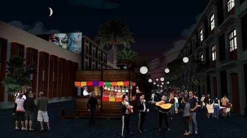 Vista nocturna:  de estilo  por City Ink Design