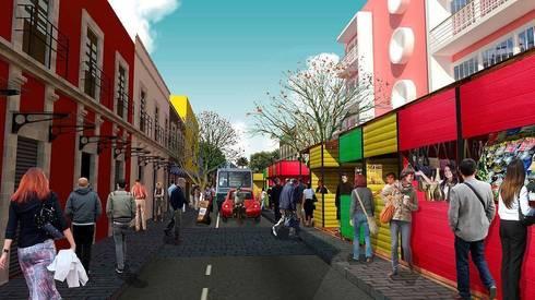 Reorganización del comercio informal:  de estilo  por City Ink Design