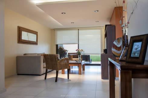 iluminación puntual: Livings de estilo moderno por Estudio Alvarez Angiono