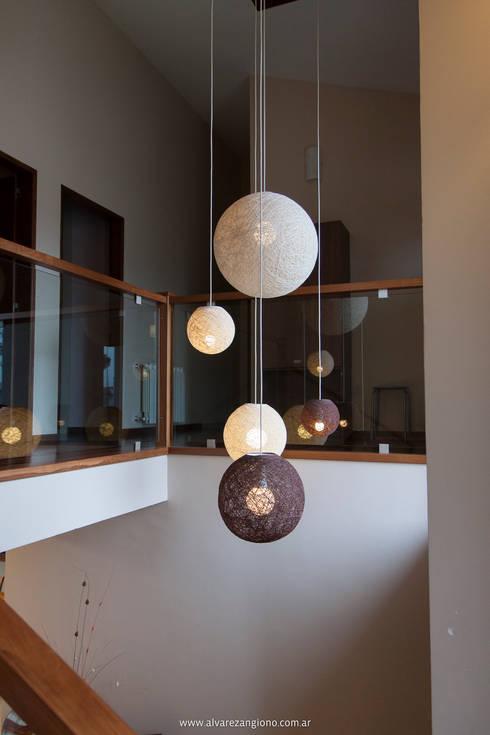 Esferas aleatorias: Paisajismo de interiores de estilo  por Estudio Alvarez Angiono