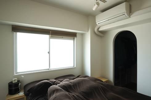 寝室: 株式会社エキップが手掛けた寝室です。