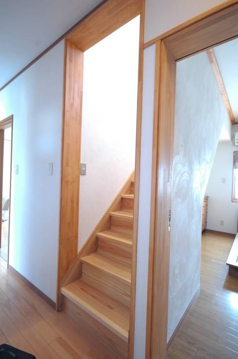 1F寝室と階段: 総合建築植田が手掛けたです。