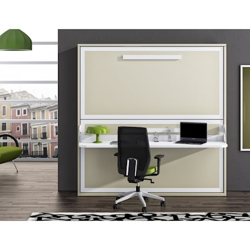Litera abatible horizontal con mesa estudio de Avant Haus | homify