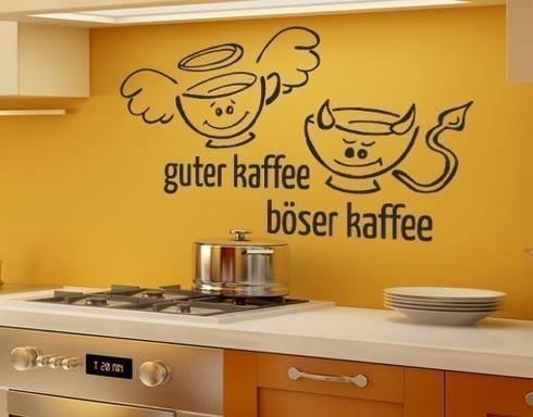 wandtattoos küche von klebefieber.de - apalis gmbh | homify - Wandtattoos Küche Kaffee