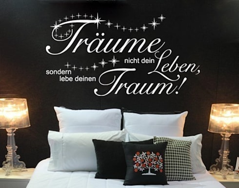 wandtattoos schlafzimmer von apalis gmbh. Black Bedroom Furniture Sets. Home Design Ideas