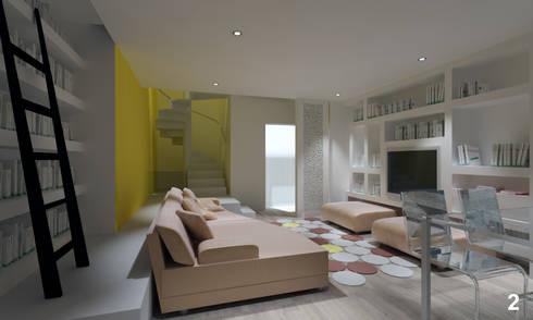 Vista della sala: Soggiorno in stile in stile Moderno di Bianca Coggi Architetto