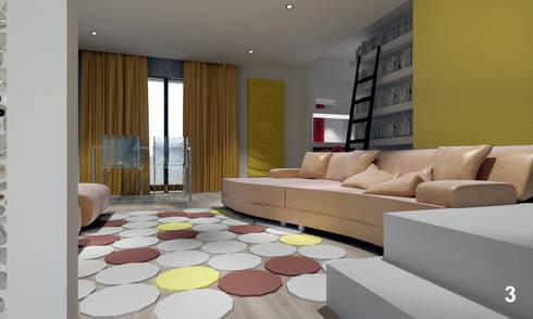 Living space in Roma: Soggiorno in stile in stile Moderno di Bianca Coggi Architetto