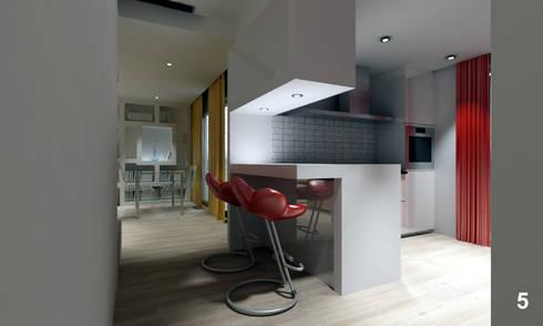 Vista dell'angolo cottura: Cucina in stile in stile Moderno di Bianca Coggi Architetto