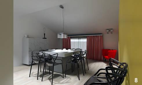 Vista della sala da pranzo: Sala da pranzo in stile in stile Moderno di Bianca Coggi Architetto