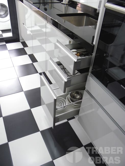 Projekty,  Kuchnia zaprojektowane przez Traber Obras