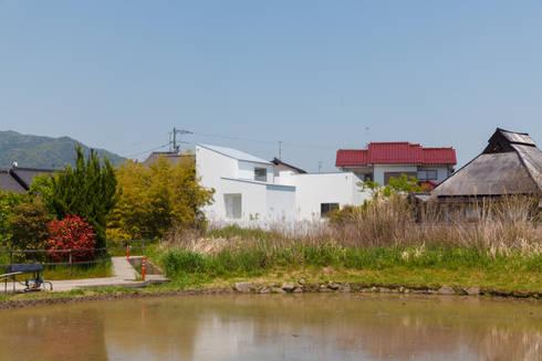 建物遠景: 株式会社 T.N.Aが手掛けた家です。