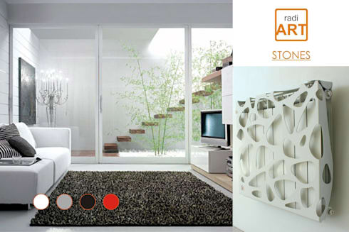 radiART modelo Stones: Livings de estilo moderno por Postigo design