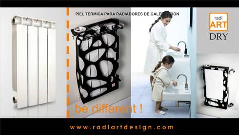 radiART modelo Stones Dry: Baños de estilo moderno por Postigo design