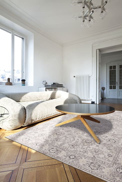 Woodstock White Interior:  Muren & vloeren door louis de poortere