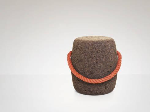 PIPO Stool or side table -  Fond Orange: Casa  por DAM