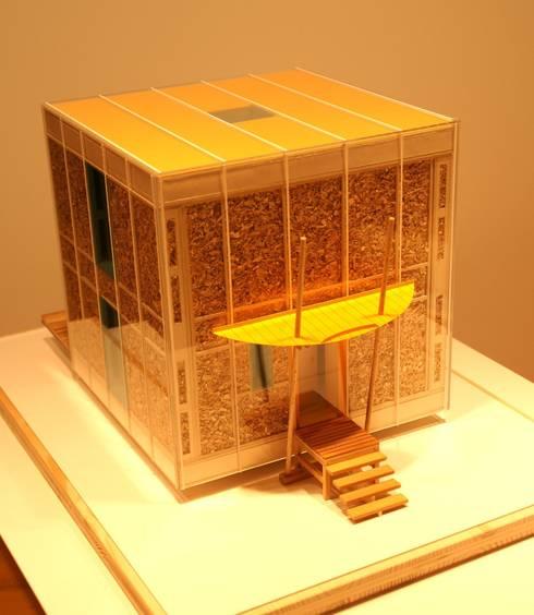 Ansicht Model der Glasvariante:  Häuser von Architektur und Geomantie