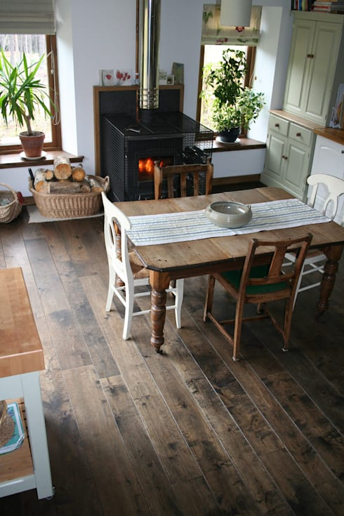 17th Century Double Smoked - Ebony flooring from Russwood: rustic Kitchen by Russwood - Flooring - Cladding - Decking