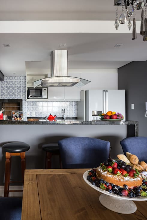 Cocinas de estilo  por Juliana Damasio Arquitetura