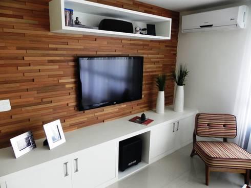 APARTAMENTO M L: Salas de estar modernas por Lote 21 Arquitetura e Interiores