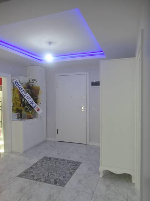 Vizyon Mimarlık ve Dekorasyon – D.İNŞAAT / ÖRNEK DAİRE:  tarz Duvar & Zemin