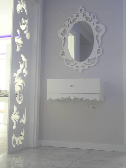 Vizyon Mimarlık ve Dekorasyon – D.İNŞAAT / ÖRNEK DAİRE:  tarz Koridor, Hol & Merdivenler