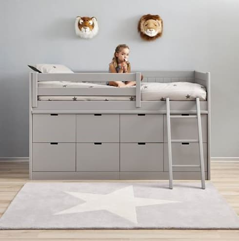 Box Bed with 8 Deep Storage Drawers :  Nursery/kid's room by Nubie Kids