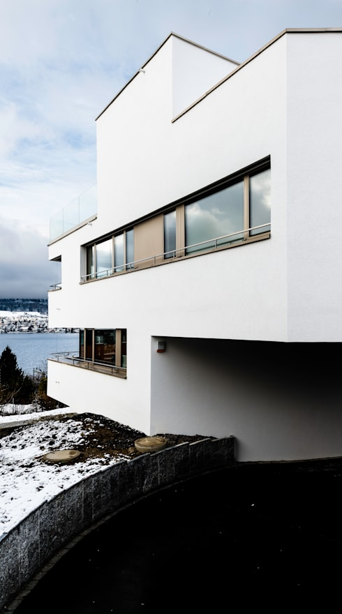 Mehrfamilienhaus 'Flair' in Herrliberg:  Mehrfamilienhaus von AMZ Architekten AG   sia   fsai