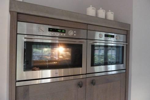 Project achterhoek rustiek hout met beton door de lange keukens ...