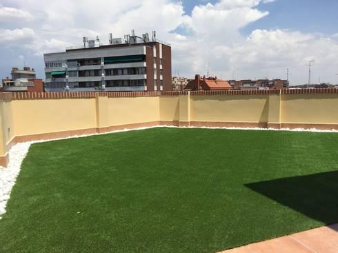 C sped artificial tico de allgrass solutions homify - Cesped artificial terrazas ...