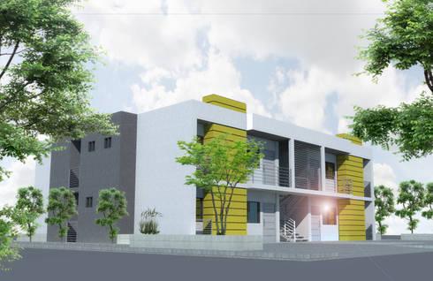VILLA ADALUZ: Casas de estilo minimalista por AG ARQUITECTURA