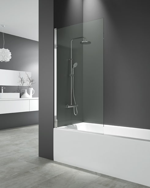 Panel de bañera Open: Baños de estilo minimalista de MAMPARASYMAS ONLINE, SLU