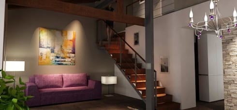 Casa Valle (Mar del Plata): Livings de estilo moderno por Alberola & Asociados