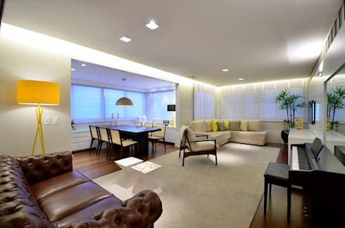 Sala de Estar | Jantar: Salas de estar modernas por Stúdio Márcio Verza