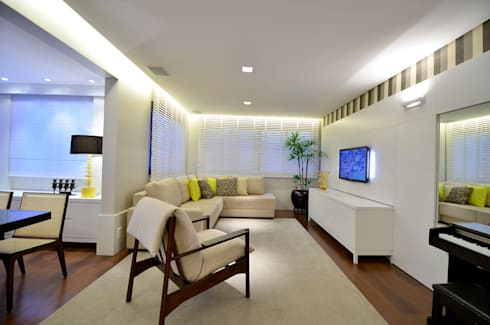 Sala de Estar | TV: Salas de estar modernas por Stúdio Márcio Verza