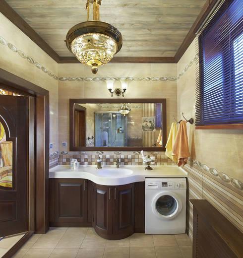 Санузел: Ванные комнаты в . Автор – Архитектурная студия 'Солнечный дом'
