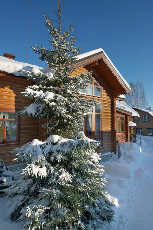 Фасад: Дома в . Автор – Архитектурная студия 'Солнечный дом'