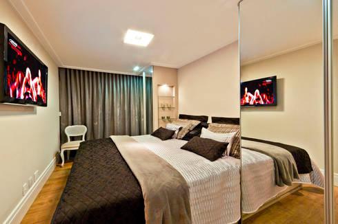 Apartamento A.FM: Quartos  por RICARDO GRANGERA - ARQUITETOS