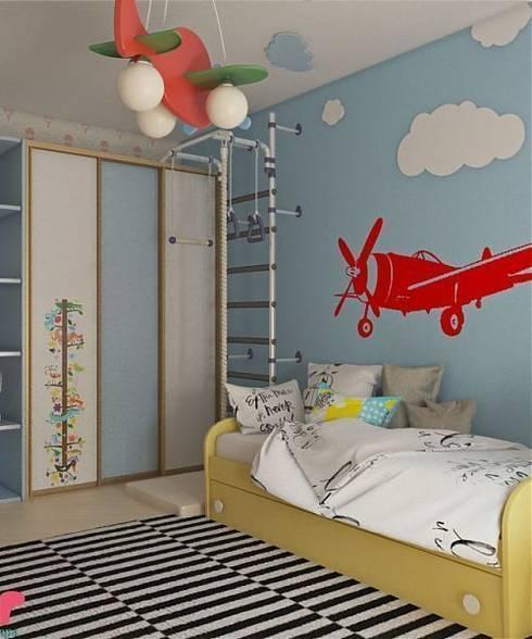 Дизайн проект квартиры в Коломягах: Детские комнаты в . Автор – MoRo